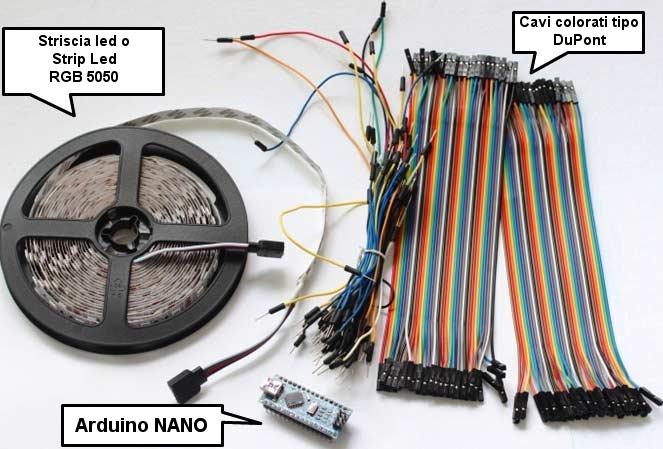 barra led arduino nano