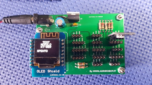Wemos Multi Test Shield Montato