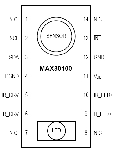 sensore max30100 pulsossimetria cardiofrequenzimetro