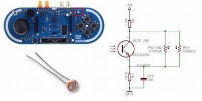Dettaglio schema scheda Arduino Esplora