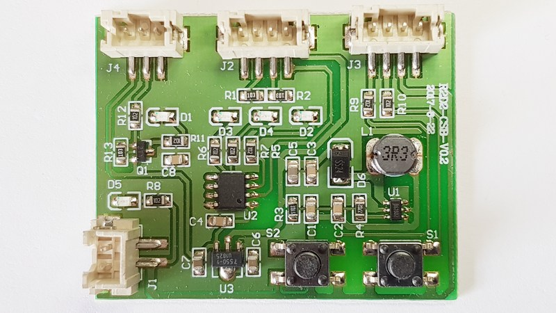 r2-d2 scheda test sensori