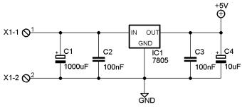 Voltmetro amperometro Arduino - Schema alimentazione