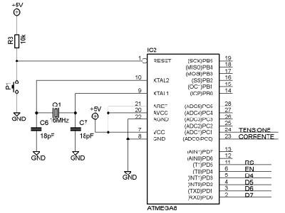 Voltmetro amperometro Arduino - Processore