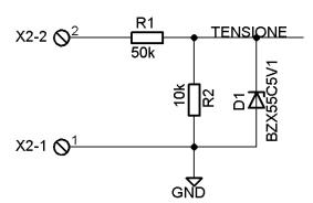 Voltmetro amperometro Arduino - partitore