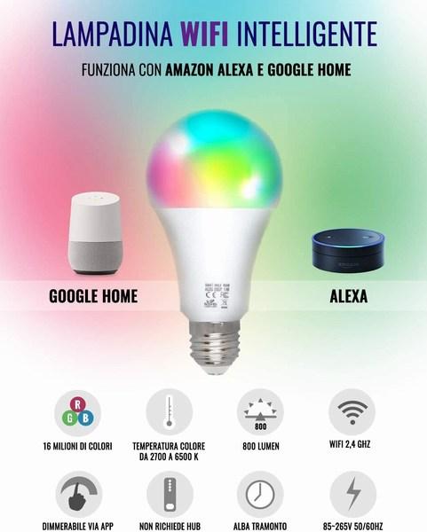 Caratteristiche lampadina wi-fi