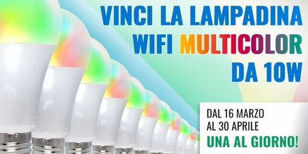 contest lampadina multicolor wi-fi