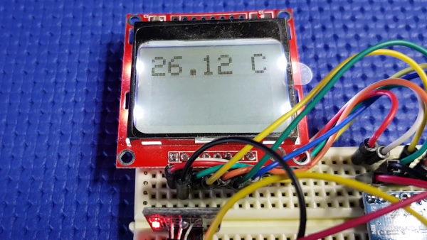 Termometro display Nokia 5110