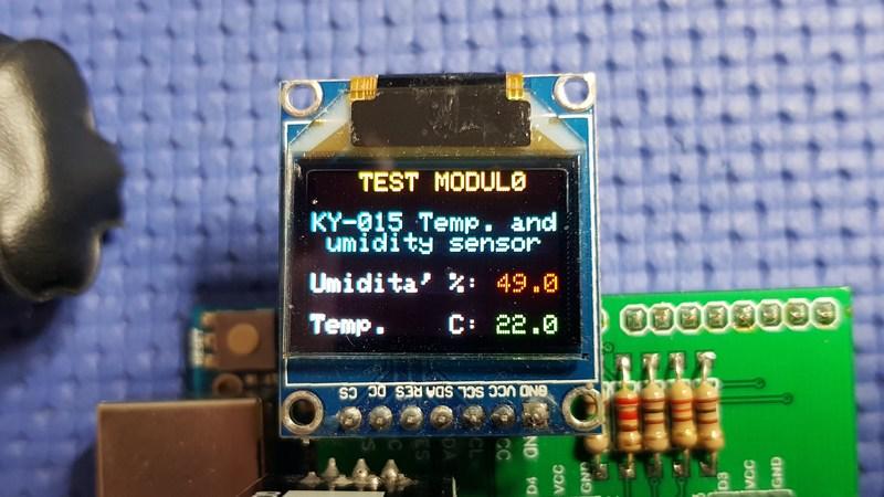 sensore KY-015 dht11 Test