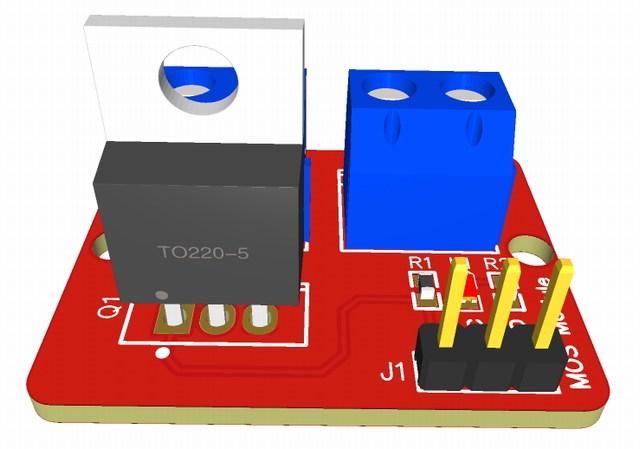 modulo IRF520 MOSFET-easyeda