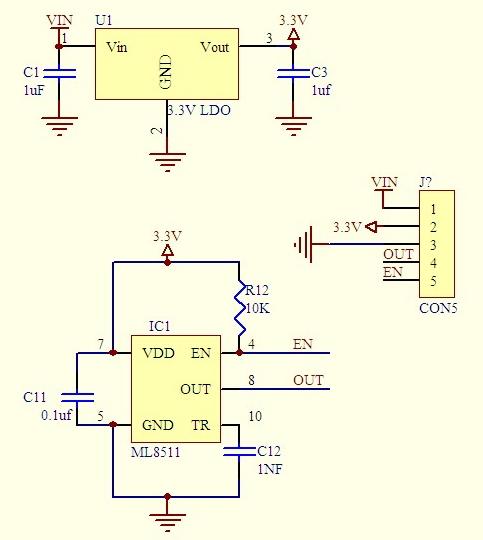 sensore UV ML8511 GYML8511