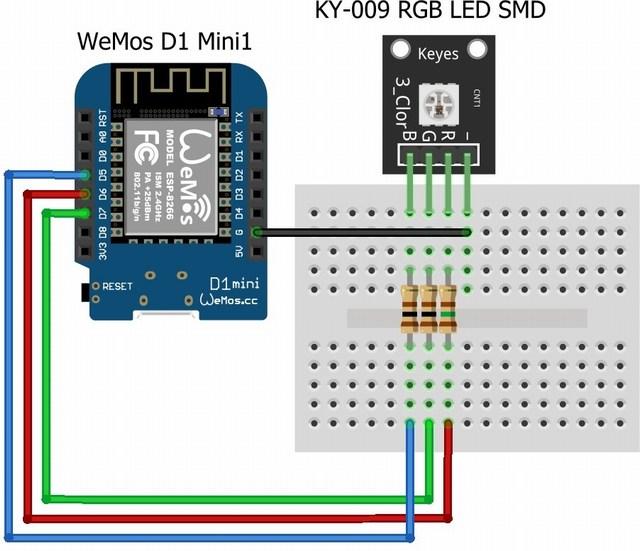 KY-009 wemos d1 mini
