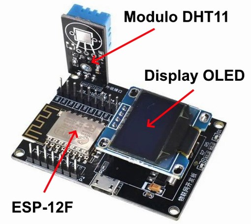 ESP-12F dht11 temperatura umidità